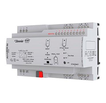 ALLinBOX 88 / Многофункциональное KNX устройство с источником питания, интерфейсом KNX-IP, 8 выходов, 8 входов